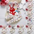Bebê Das Meninas Dos Meninos Dos Desenhos Animados Pijamas Conjunto Pijamas Capitão Girafa Coelho imprimir Pijamas de Manga Longa T shirt + Calças Crianças Sleepwear 21