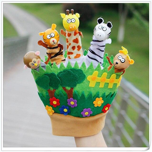 Новые родители и раннего детства игрушки палец перчатки лес царство животных сказка принц и принцесса куклы-марионетки
