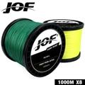 Рыболовная леска JOF 9 цветов  8 нитей  шнур для ловли карпа  1000 м  100% полиэтилен  плетеная леска  прочная  22-88LB  2019