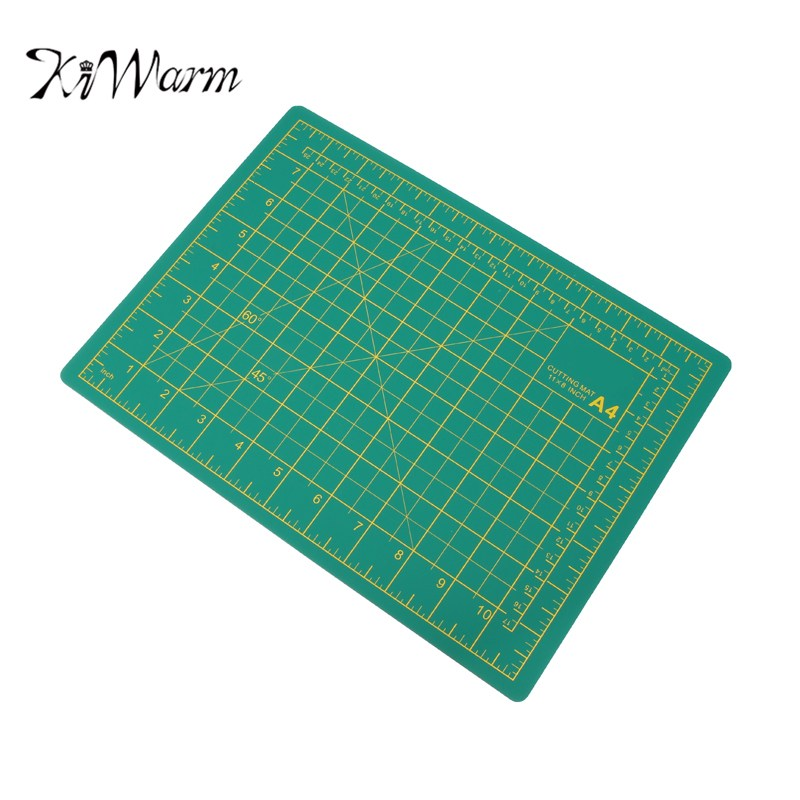 Kiwarm convenient a4 pvc rectangle self healing cutting for Plastic grid sheets crafts