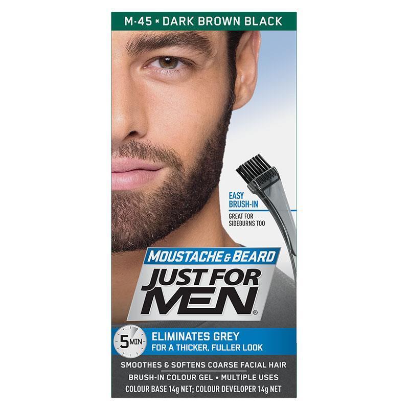Natural black brown beard dye for Australian men without ammonia tonic