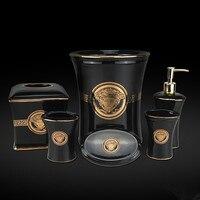Fashion Horse Ceramic Bathroom Set Sanitary Ware Five Pieces Set Bathroom Toiletries Gift