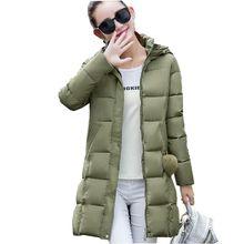 2016 Latest Winter Fashion Women Down jacket Hooded Thicken Super warm Medium long Coat Pure color Slim Big yards Parkas NZ260