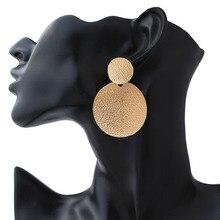 Europe and America Minimalist Round Earrings Geometric Core Metal 2019 Women Wedding
