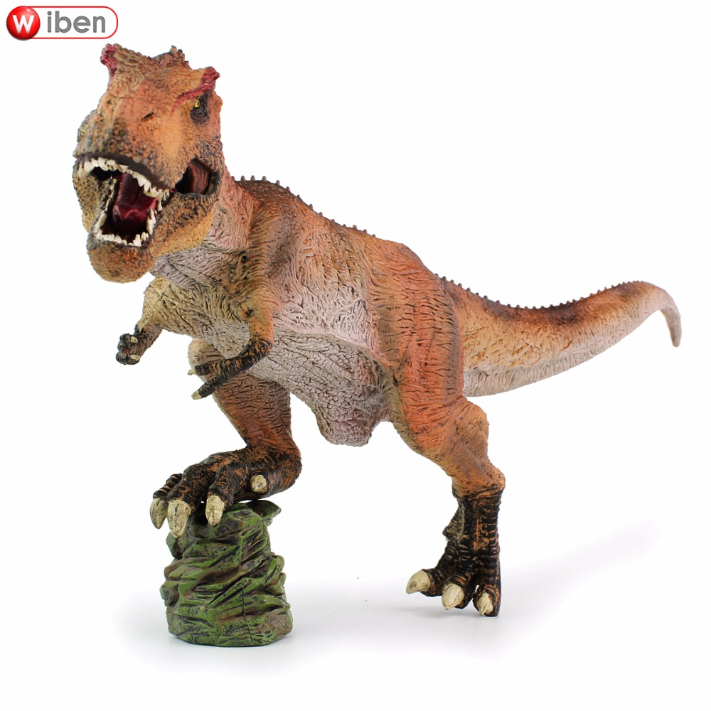 Wiben Jurassic Tyrannosaurus Rex T-Rex Dinosaur Action & Toy Figures Animal Model Collection Learning & Educational Kids Gift wiben 3pcs jurassic triceratops tyrannosaurus rex parasaurolophus cub model dinosaur toys action toy figures collection gift