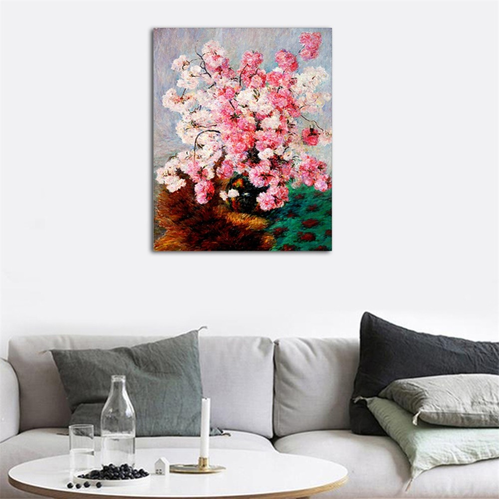 Laeacco Modern Nordic Watercolor Blooming Flower Posters and Prints Canvas Painting Abstract Wall Art Picture Bedroom Home Decor in Painting Calligraphy from Home Garden