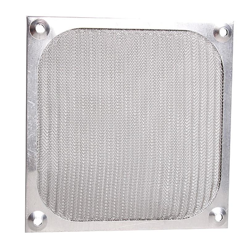 úTil Nuevo 120mm X 120mm Cubierta De Aluminio A Prueba De Polvo Filtro Para Ordenador Pc Ventilador De Chasis De Refrigeración De Alta Calidad