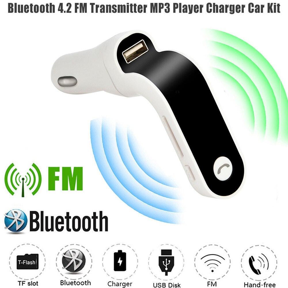 2018 Neueste Freisprecheinrichtung Top Verkauf Bluetooth 4-in-1 Fm Transmitter Bluetooth Freihändiger Drahtloser G7 Aux Modulator Auto Kit Mp3 Durchblutung GläTten Und Schmerzen Stoppen Mp3-player