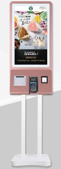 Kiosque de paiement de terminal commercial de Service d'individu de Restaurant avec l'imprimante et l'affichage numérique interactif de contact de 32 pouces