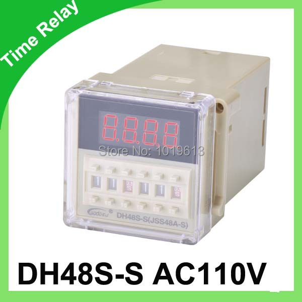 dh48s-s digital time relay ac 110v delay timer relay with socket 12v time delay relay dh48s 2z 12v timer relay with socket