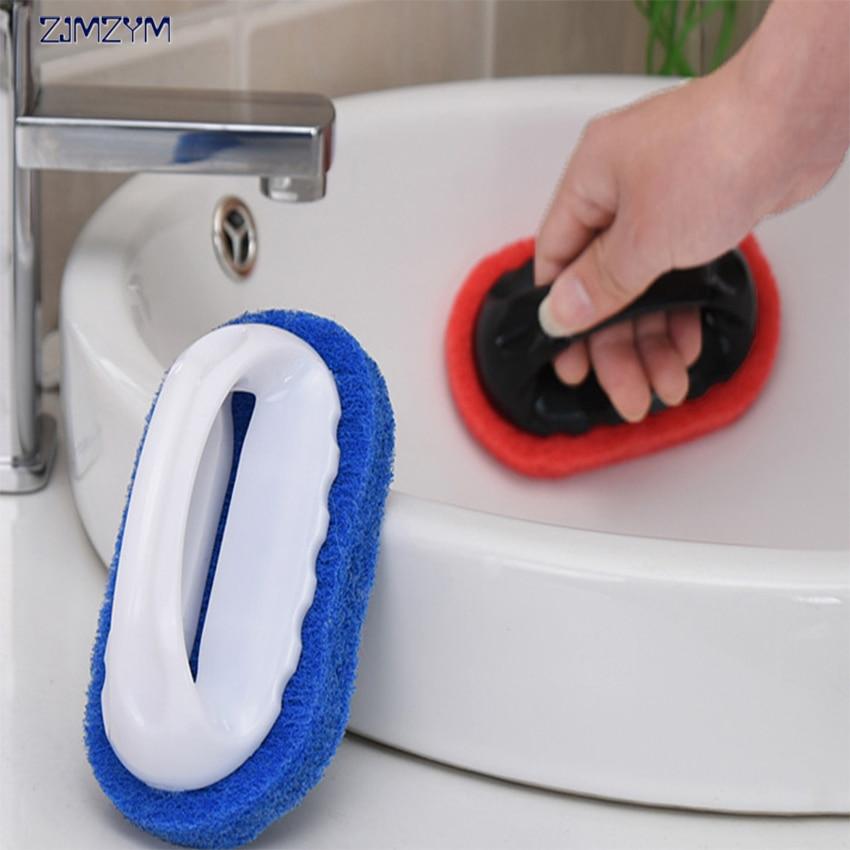 1PC Strong Decontamination Bath Brush Magic Sponge Tiles Brush kitchen Supplies Wash Pot Clean Brush Sponge Rub
