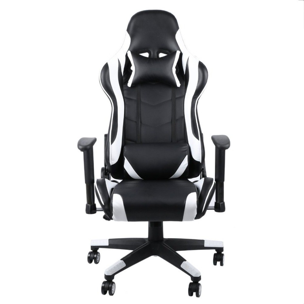 Fabulous White 360 Degree Rotation Gaming Chair High Back Computer Office Chair With Headrest Lumbar Support Racing Gaming Chair Ncnpc Chair Design For Home Ncnpcorg
