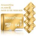 Новый дизайн Золото Карта Micro Sd карты памяти tf карта 4 ГБ/8 ГБ/16 ГБ/32 ГБ/64 ГБ реальная емкость класс 6 класс 10 для сотовых телефонов таблетки