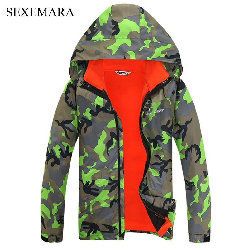 Prix pour SEXEMARA de ski en plein air veste hommes d'hiver imperméable ski vestes respirant polaire camouflage femmes veste 1 pc
