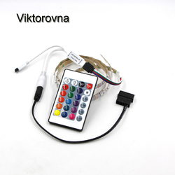 RGB LED Strip Light Full Kit for PC Computer Case 1m 2m Background Tape Light 5050 SMD Waterproof lamp +24key remote controller