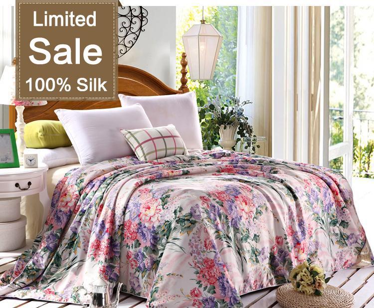 eac4514127 Hot sale 100% Mulberry Natural Silk comforter quilt Blanket Duvet ...