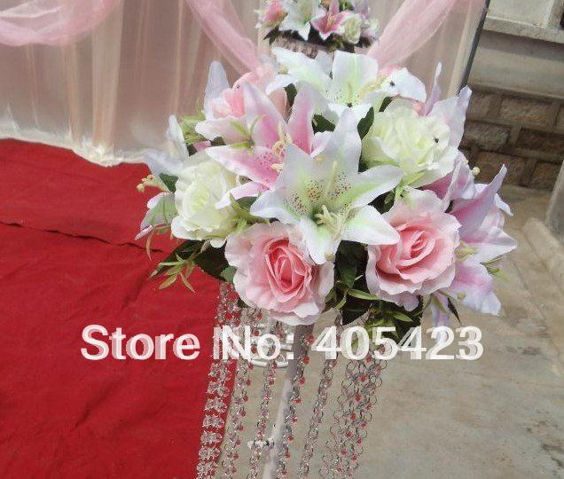 low price/wedding Road lead/wedding decoration/ Including(lead frame, bead curtain) no have flower