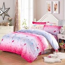 Red wedding umbrella style Winter soft velvet bedding set super warm bed sheet duvet cover pillowcase soft bedding home textile