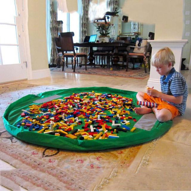 150 cm 4 Kolory Popularne Praktyczne Dzieciak Zabawki Organizator Buggy Bag Zagraj Mat Dywan Zabawki Przechowywania Uchwyt Pudełka 1 sztuk dziecko Grać Dywan Hot