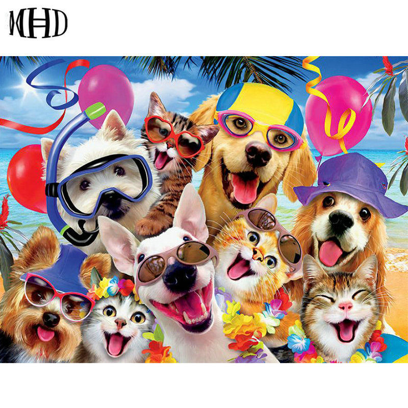 New arrivals Diamond Painting Dogs Full Square Round 3D DIY Diamond Embroidery Horse Crystal Mosaic Crafts Decorations Painting