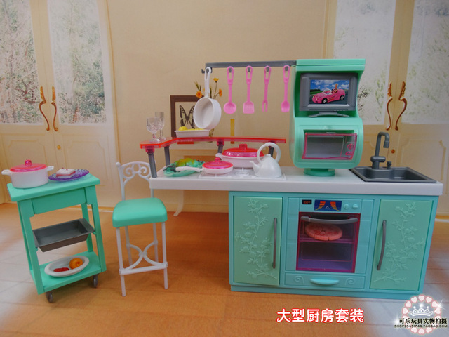 Toy Kitchen Sets Style Ideas Diy Set Re Ment Play For Barbie Doll Baby Toys Girl Birthday Gift Accessories House Furniture