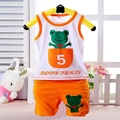 Hot Sale Children Baby Boys Clothes Character Pink T-shirts Set Summer Blue Undershirt Clothing Cotton Short T-Shirt +Pants Sets