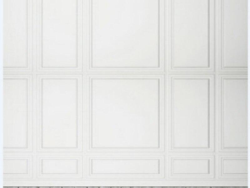 Vnitřní prostor Bílé zdi Podlaze foto pozadí Vinyl tkanina Vysoce kvalitní Počítač vytištěn svatební Pozadí na prodej