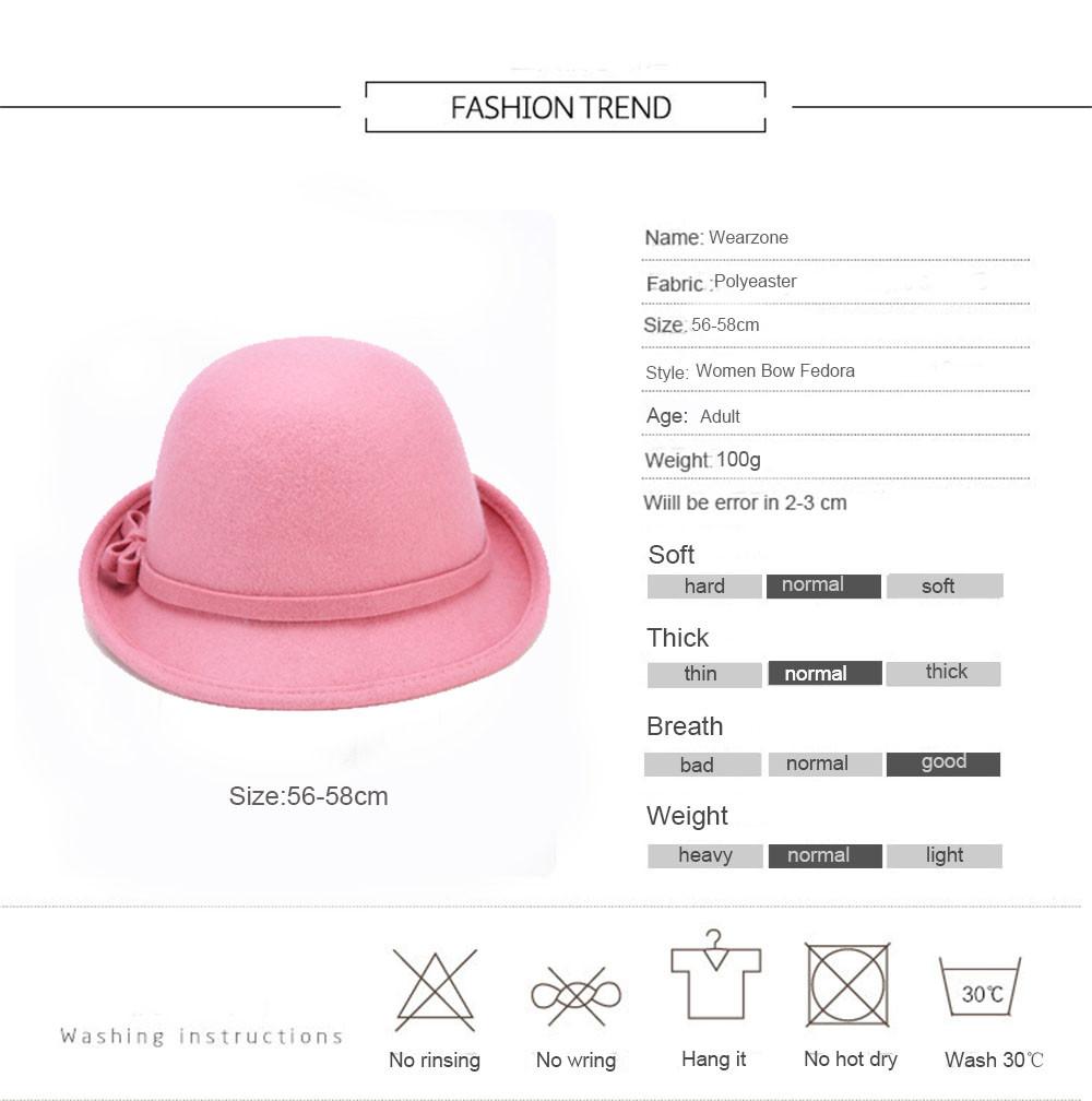 Chapeau vintage en Laine style rétro