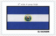 "EL SALVADOR bendera 3 ""lebar besi di patch/warna biru/bunga/jahit on(China)"