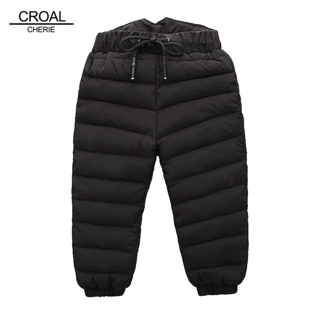 937474d28a5a8 CROAL CHERIE 80-130cm Girls Boys Down Pants Winter Baby Girl Clothes High  Waist Thicken Waterproof Children Warm Pants