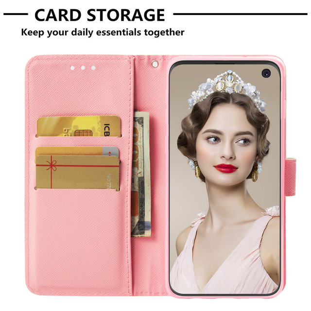 Phone Case sFor Samsung Galaxy S10E S10 Case Flip PU Leather Magnetic Wallet Cover For Samsung Galaxy S10 Plus S 10 Case Cover 3