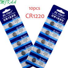 10pcs/pack CR1220 Lithium Button Battery DL1220 BR1220 LM1220 Cell Coin Batteries 3V CR 1220 For Watch Electronic Toy Remote