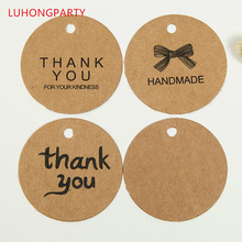 50pcs Thank You Gift Tags Kraft Paper Tag Vintage for Wedding Party Christmas DIY Accessories rustic wedding centerpieces