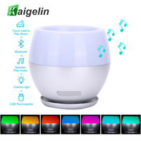 Novelty Luminaria Speaker Bluetooth LED Night Light 7 Color Changing Touch Sensor Music Player LED Table
