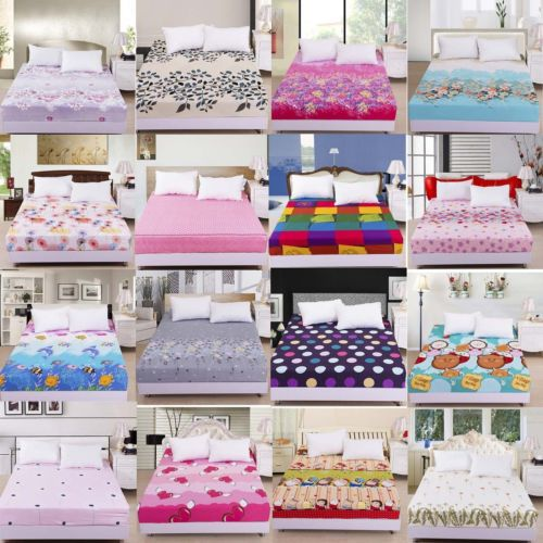 new king queen size fitted sheet only one piece not including pillowcase in bedding sets from. Black Bedroom Furniture Sets. Home Design Ideas