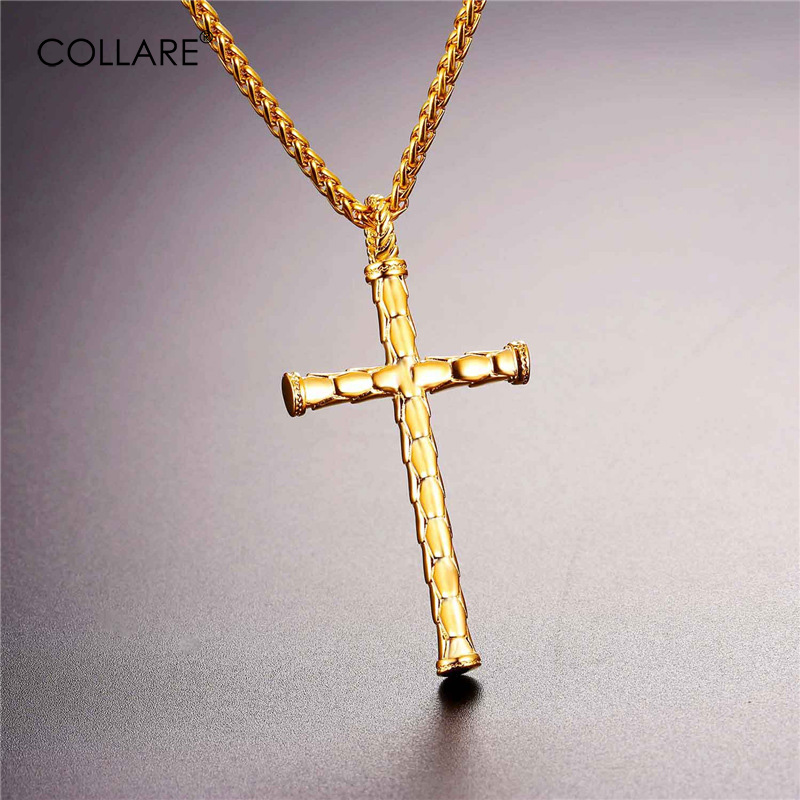 Collare cross pendant 316l stainless steel goldblack color necklace collare cross pendant 316l stainless steel goldblack color necklace women men christian jewelry p286 in pendant necklaces from jewelry accessories on aloadofball Images