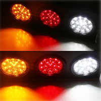 48 LED Truck/Trailer Tail Lights with Iron Bracket Base - Waterproof DC12-24V Tail Light Bar for Turn/Signal/Running Lamps