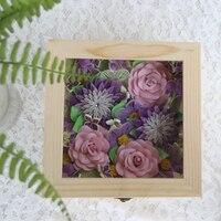 Бесплатная доставка (1 box/set) Романтические цветы коробка Рюш бумажный цветок коробка Квиллинг бумаги DIY украшения свадебный подарок