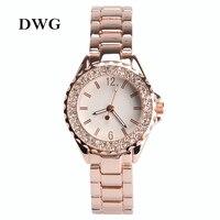 Relogio Feminine Top Brand Diamond Dress Watch Stainless Steel Bling Bling Bracelet Watch Rose Gold For