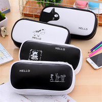 2017 Big Pencil Case Pen Box Bags Stationery Zipper Organizer Supplies Canvas Cute Cheap Office School