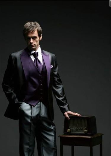 Personalizar Brilhante Preto Fraque Do Noivo Smoking homens Padrinhos de Casamento Prom Suits (Jaqueta + Calça + Colete + Gravata) N °: 076