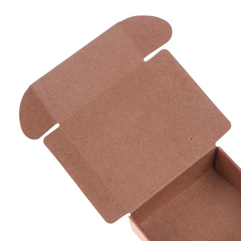 Nueva DIY de Papel Kraft de regalo hecho a mano Caja de galletas de Navidad caja de regalo para fiestas 2 tamaños 2 colores para boda Regalos de fiesta de cumpleaños