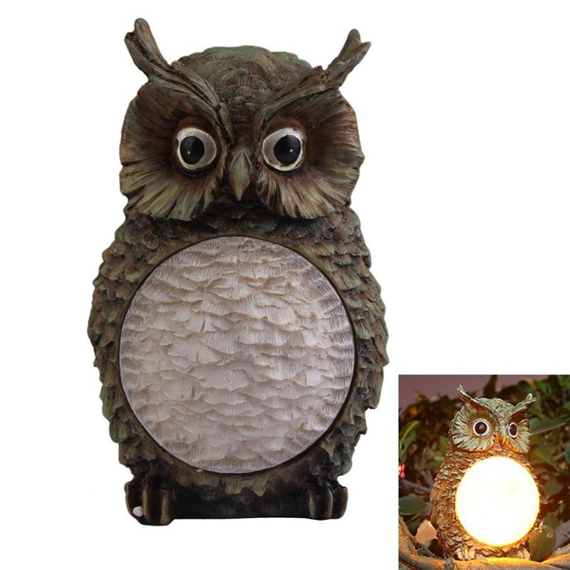 2018 New Cute Owl Solar Light Led Waterproof Villa Garden Lamp Yard Decorative Lawn Light Party Path Outdoor Bird Home Gifts Lights & Lighting
