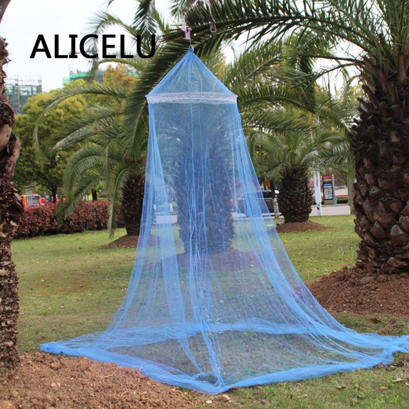 ALICELU Summer Princess Mosquito Net Dome Hooded Adult Child University Dormitory Lace Polyester Fabric Mosquito Net Fabric