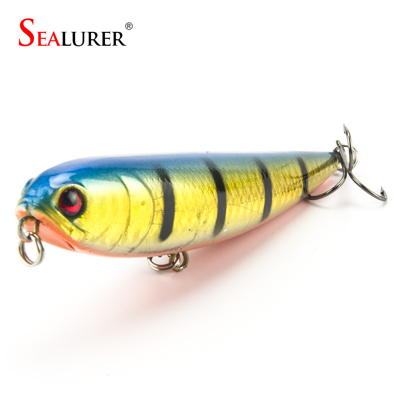 SEALURER Topwater Fishing Lure Floating Wobbler 11cm ұзындығы 20г 4 # ілмектер Bionic Pesca Crankbait Hard Bait Jerkbait 1pcs Minnow