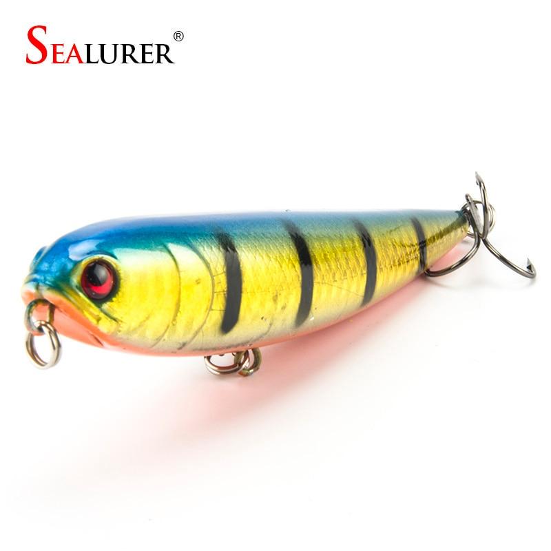 SEALURER Topwater Pesca con señuelo Wobbler flotante 11 cm Longitud 20 g 4 # Anzuelos Bionic Pesca Crankbait Cebo duro Jerkbait 1pcs Minnow