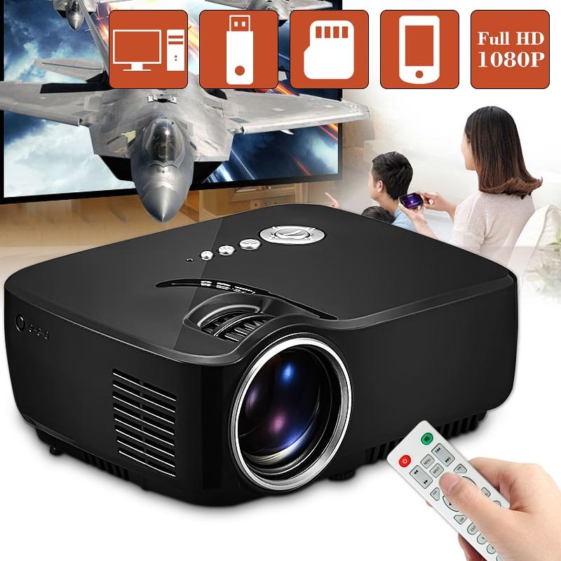 GP70 LCD Portable LED Projector 1080P Full HD 1200 Lumen HDMI USB VGA TV AV Port Optional Bluetooth Wireless WIFI Beamer все цены