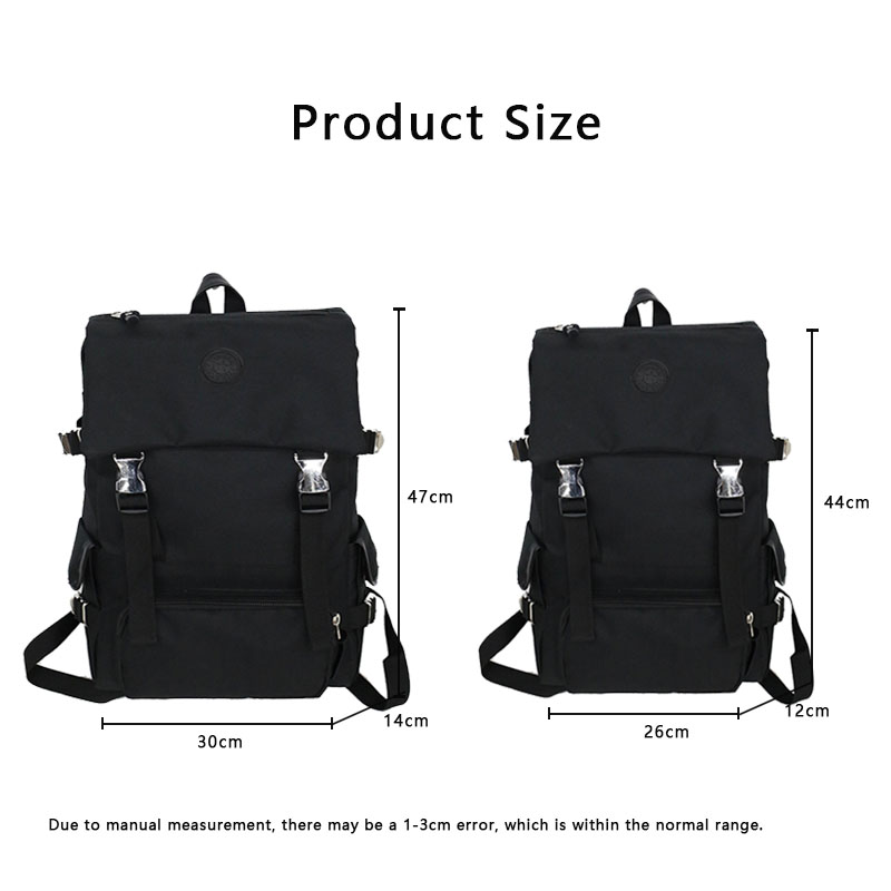 Trend Backpack Couple Large Small Men And Women Bagpack Black Gray Red Vacation Multi function Rucksack School Bag Fashion in Backpacks from Luggage Bags