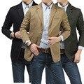 2017 New Arrival Homens Marca de Moda Blazers Slim Fit Masculino Casual Jaquetas Casacos Ternos de Algodão Puro Casaco Blaser Ceket Blezer