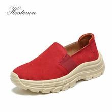 Hosteven Women Shoes Ballet Loafers Sneaker Genuine Leather Flat Platform Woman Female Womens Moccasins Shoe